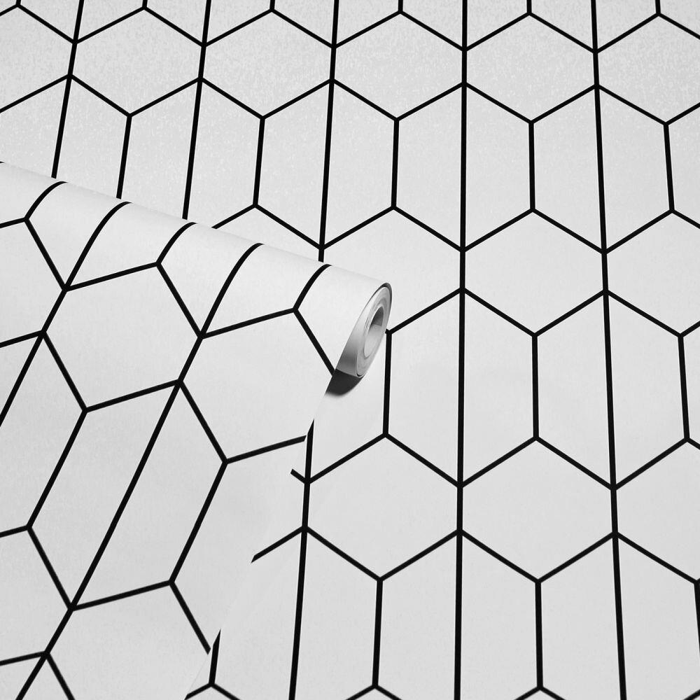 Linear Geo Wallpaper - Mono - by Arthouse