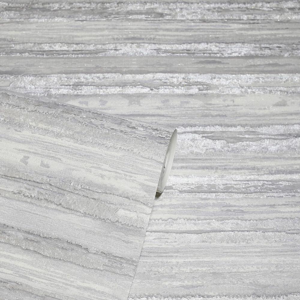 Sahara Wallpaper - Silver - by Arthouse
