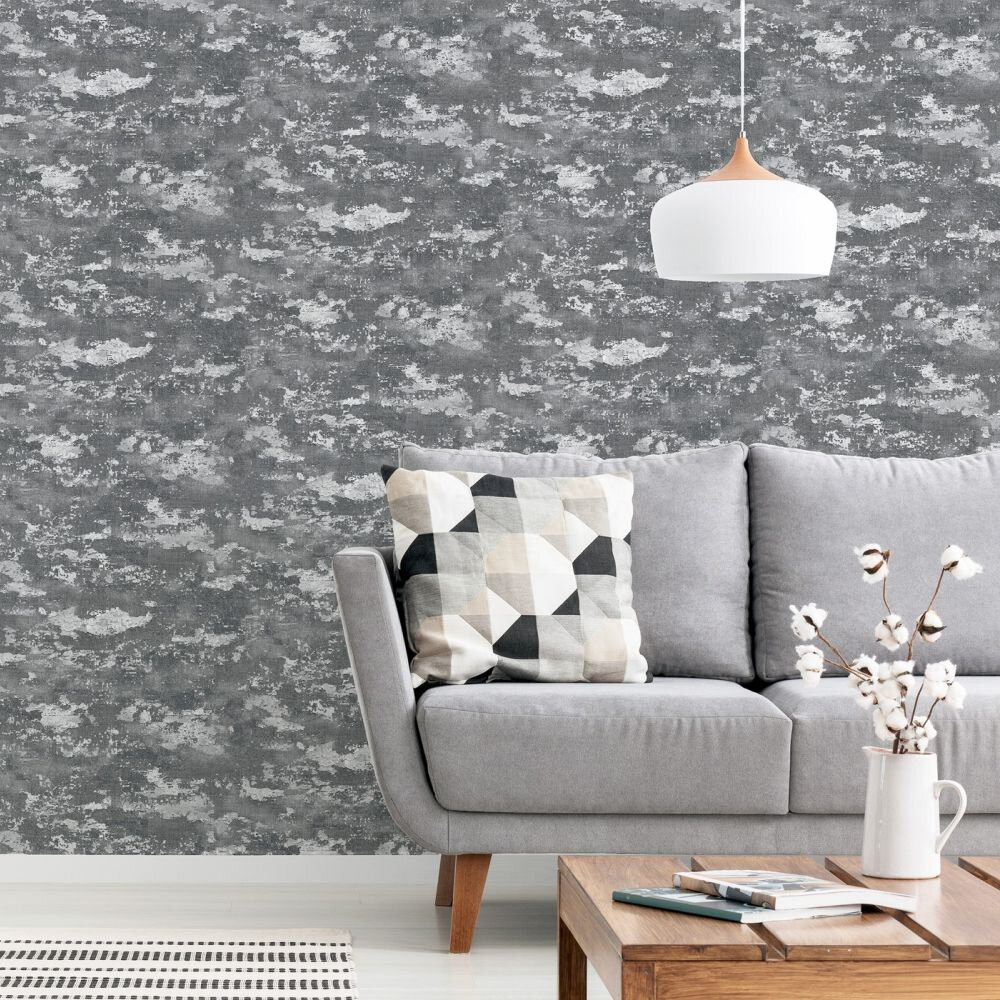 Patina Wallpaper - Grey / Silver - by Arthouse