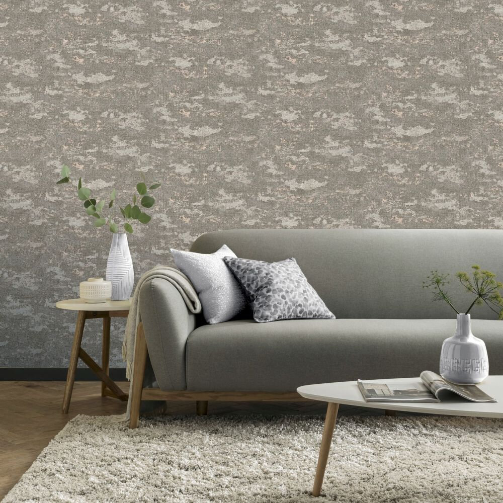 Patina Wallpaper - Neutral - by Arthouse