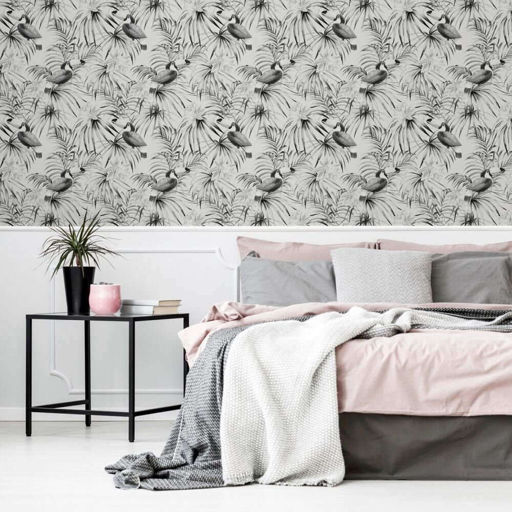 Toucan Wallpaper - Mono - by Arthouse