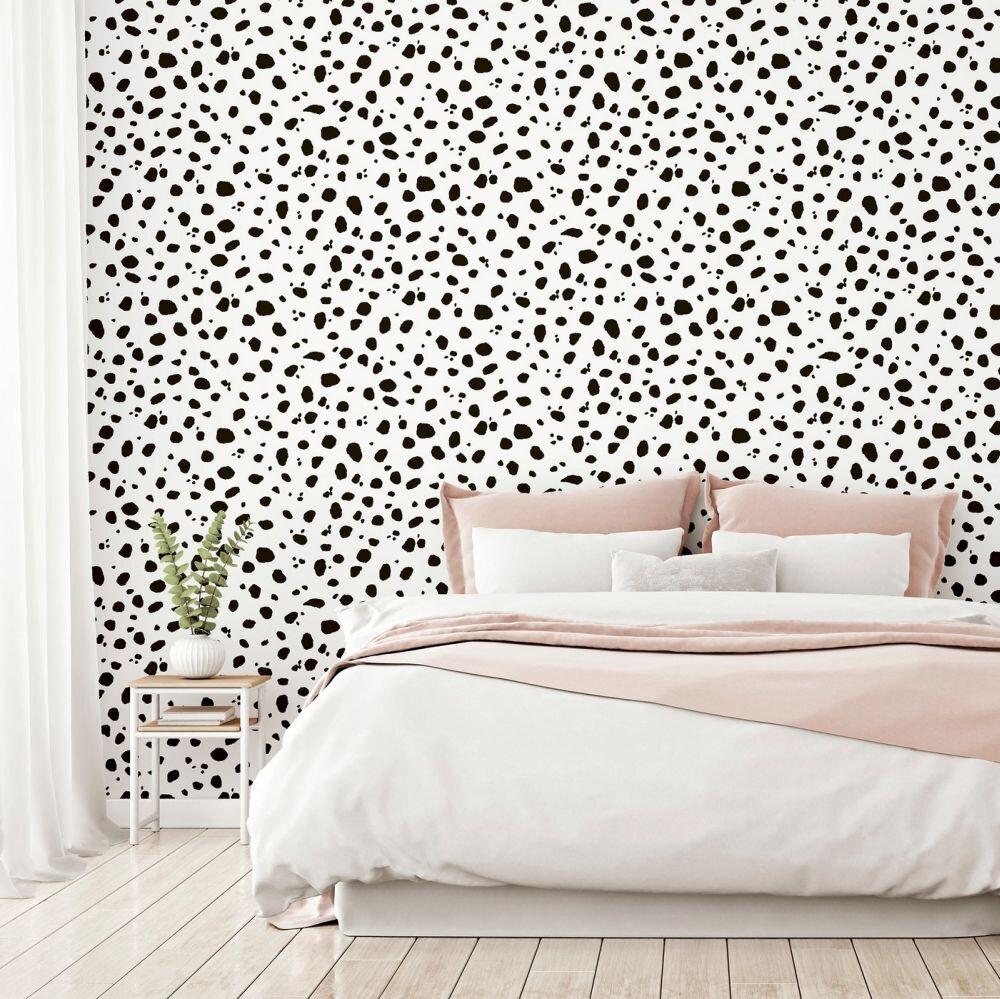 Dalmatian Wallpaper - Mono - by Arthouse