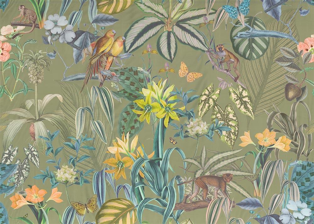 Barbados Fabric - Palm - by Prestigious