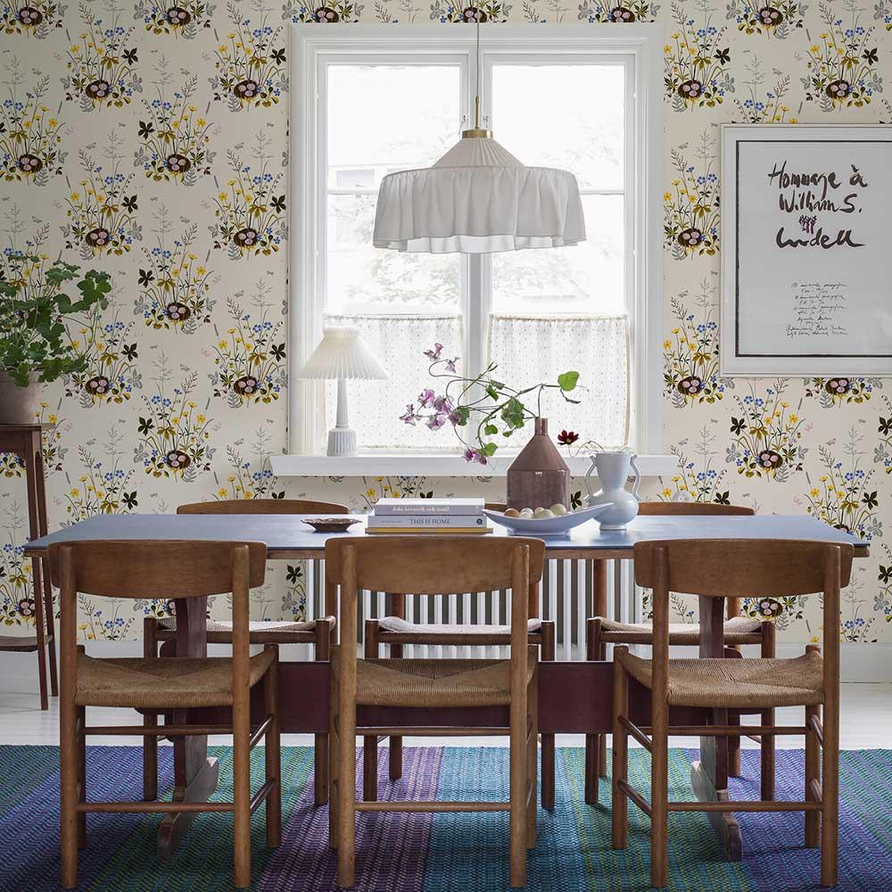 Fagelbo Wallpaper - Multi-coloured - by Boråstapeter