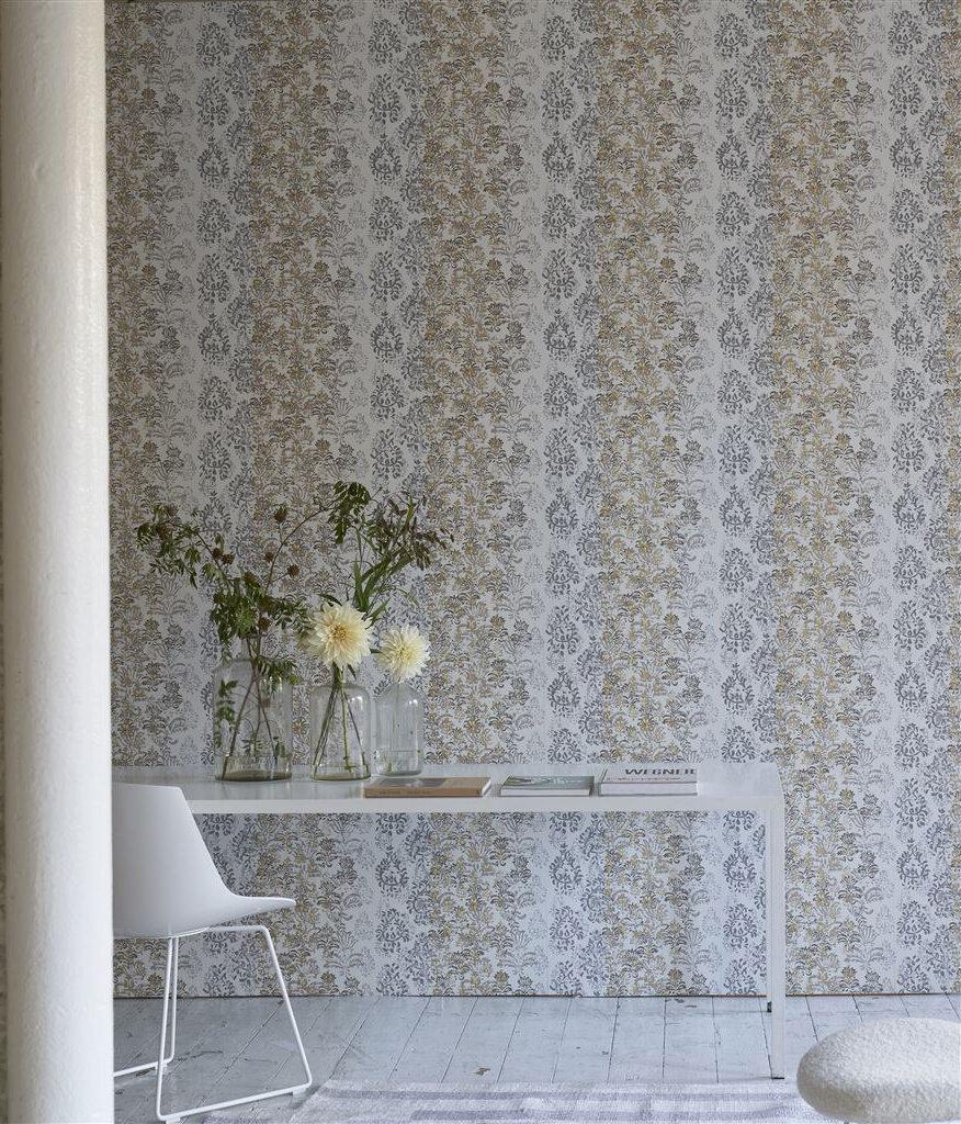 Kasavu  Wallpaper - Ivory - by Designers Guild