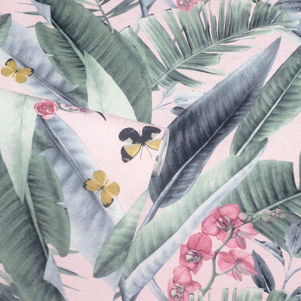 Lush Tropical Wallpaper - Blush - by Arthouse
