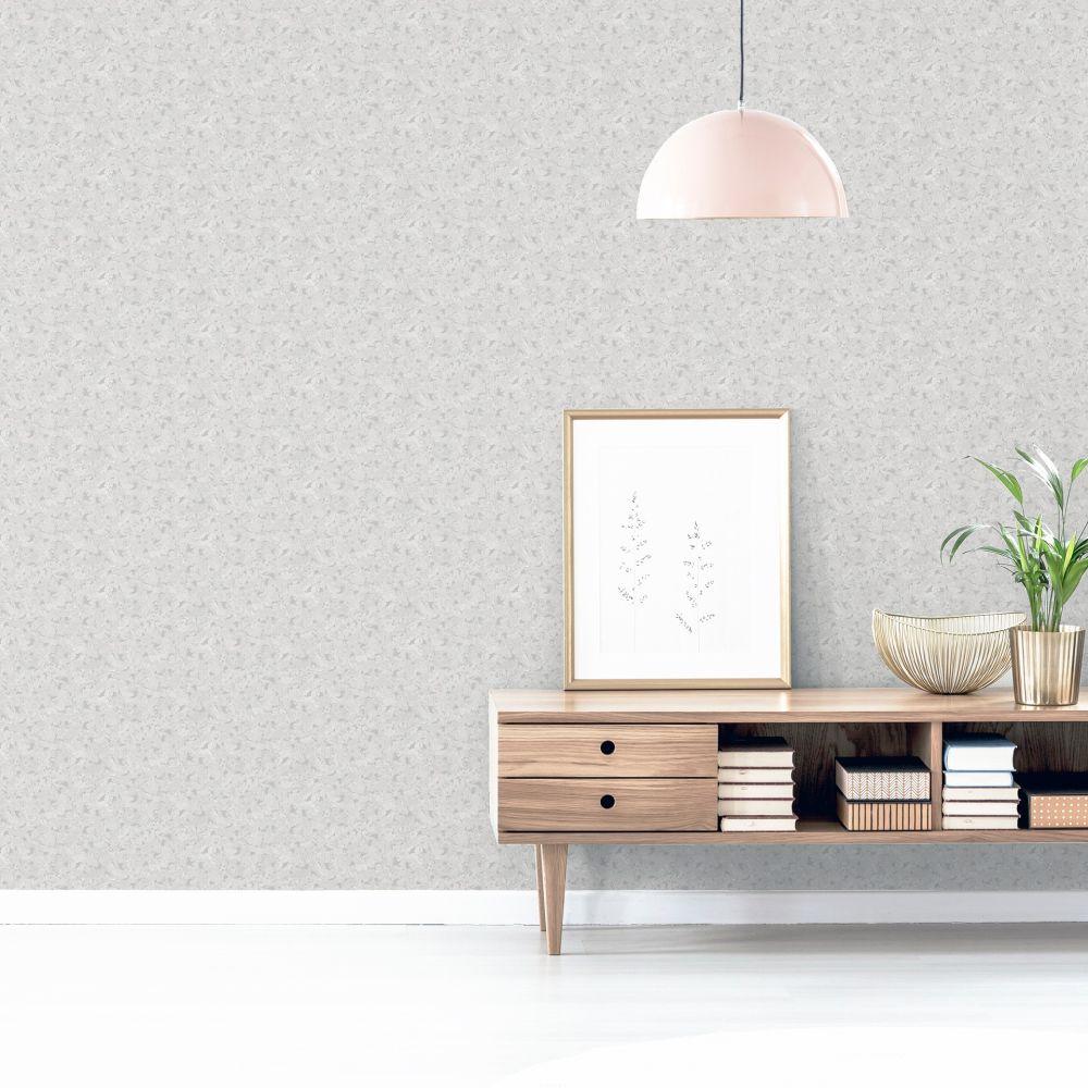 Cork Wallpaper - Grey/Silver - by Arthouse