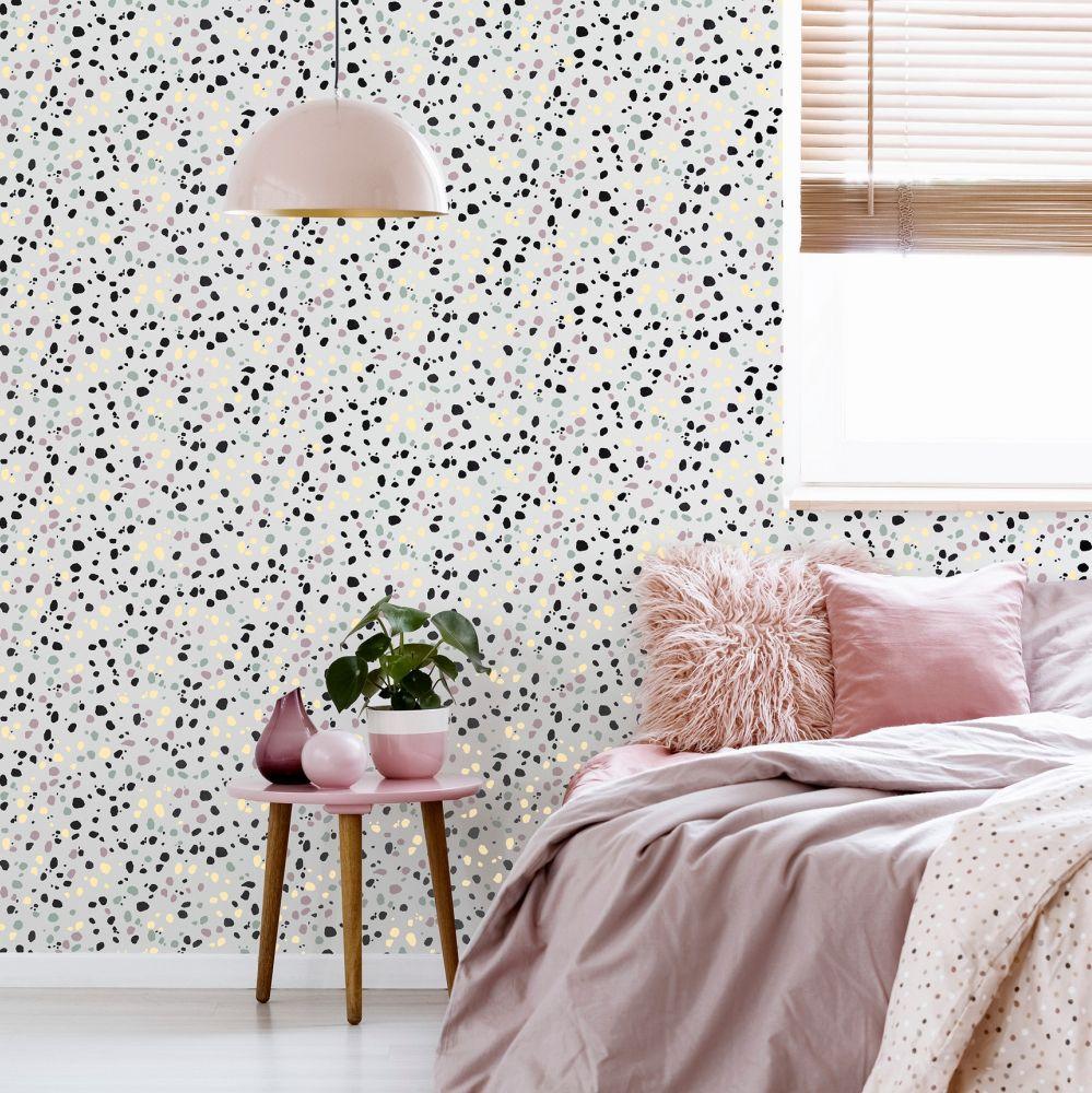 Dalmatian Wallpaper - Pastel Multi - by Arthouse