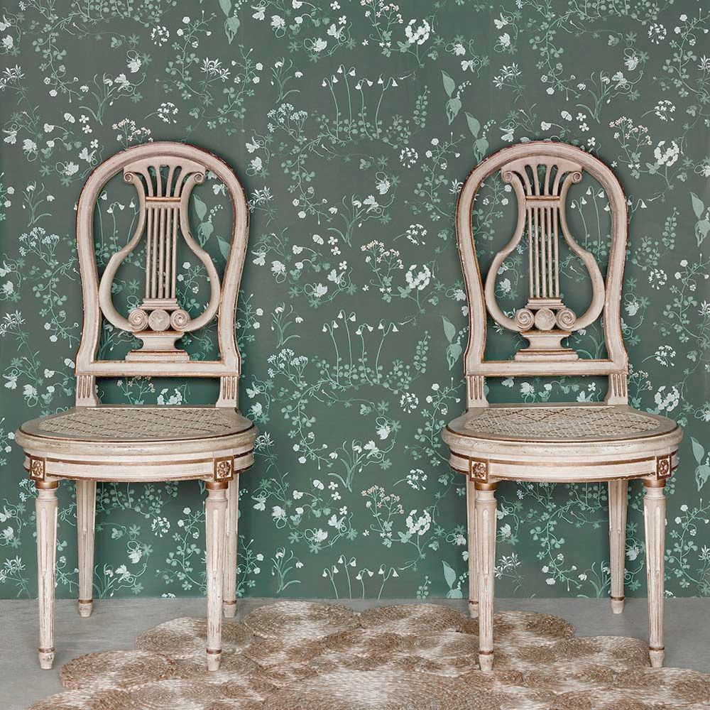 Botanica Wallpaper - Woodland Green - by Barneby Gates