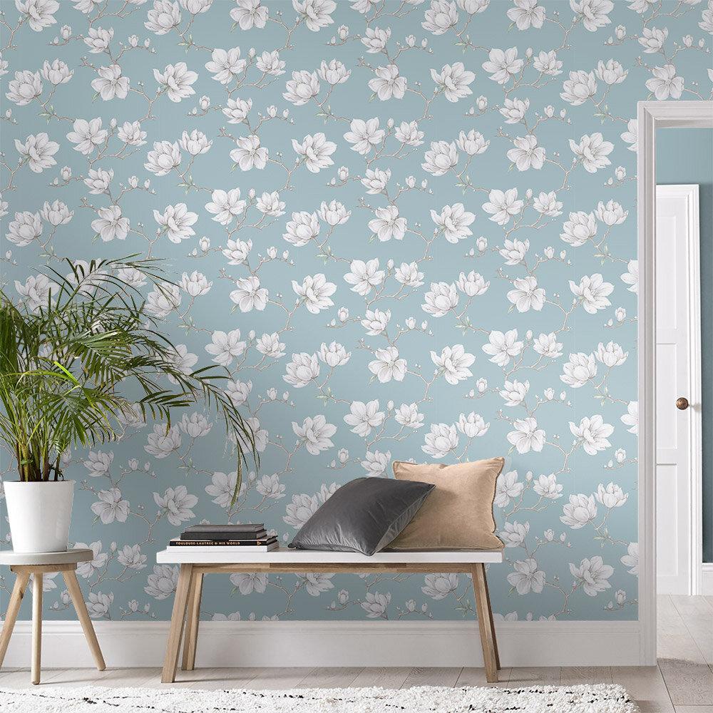 Pierre Wallpaper - Sky Blue - by Graham & Brown