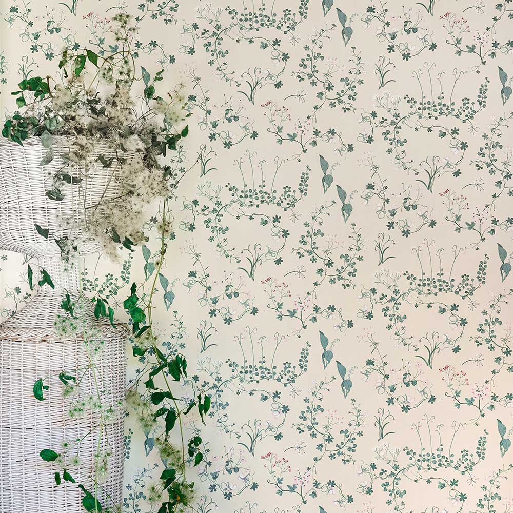 Botanica Wallpaper - Ivory - by Barneby Gates