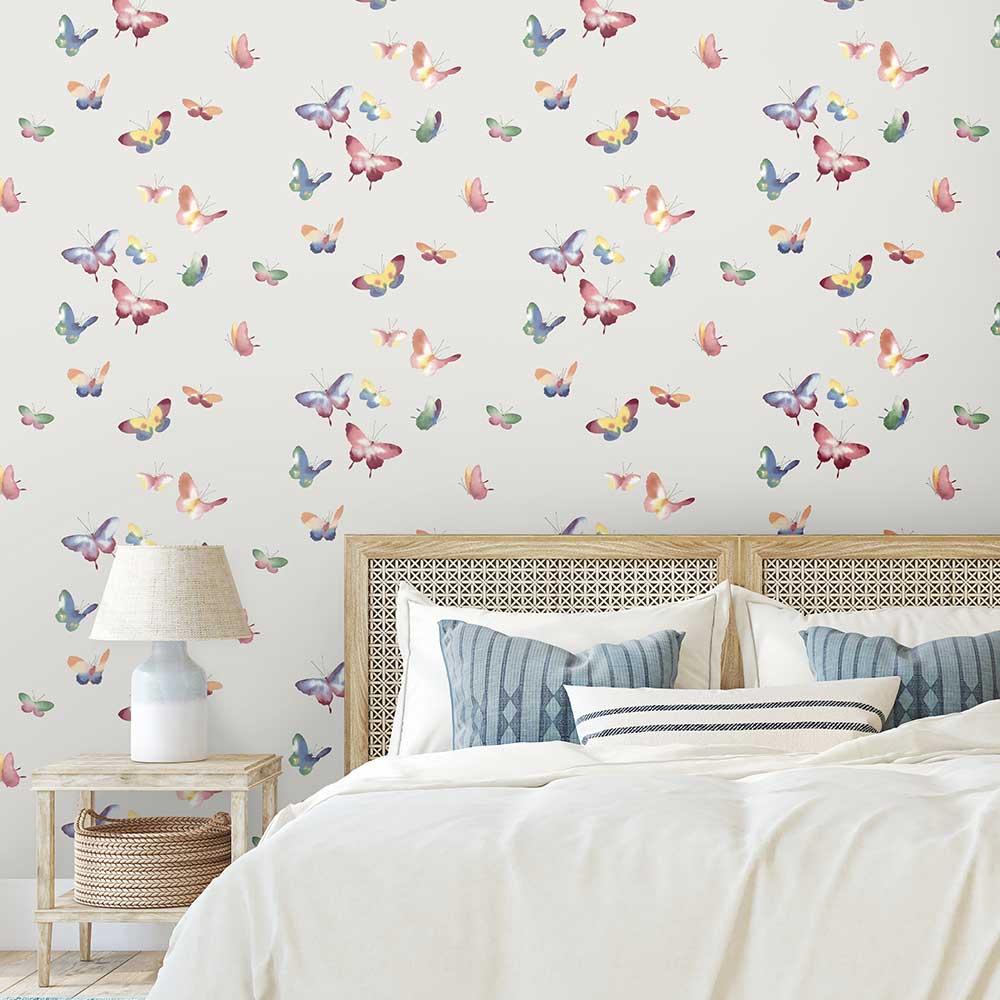 Kamala Wallpaper - Grey - by Elizabeth Ockford