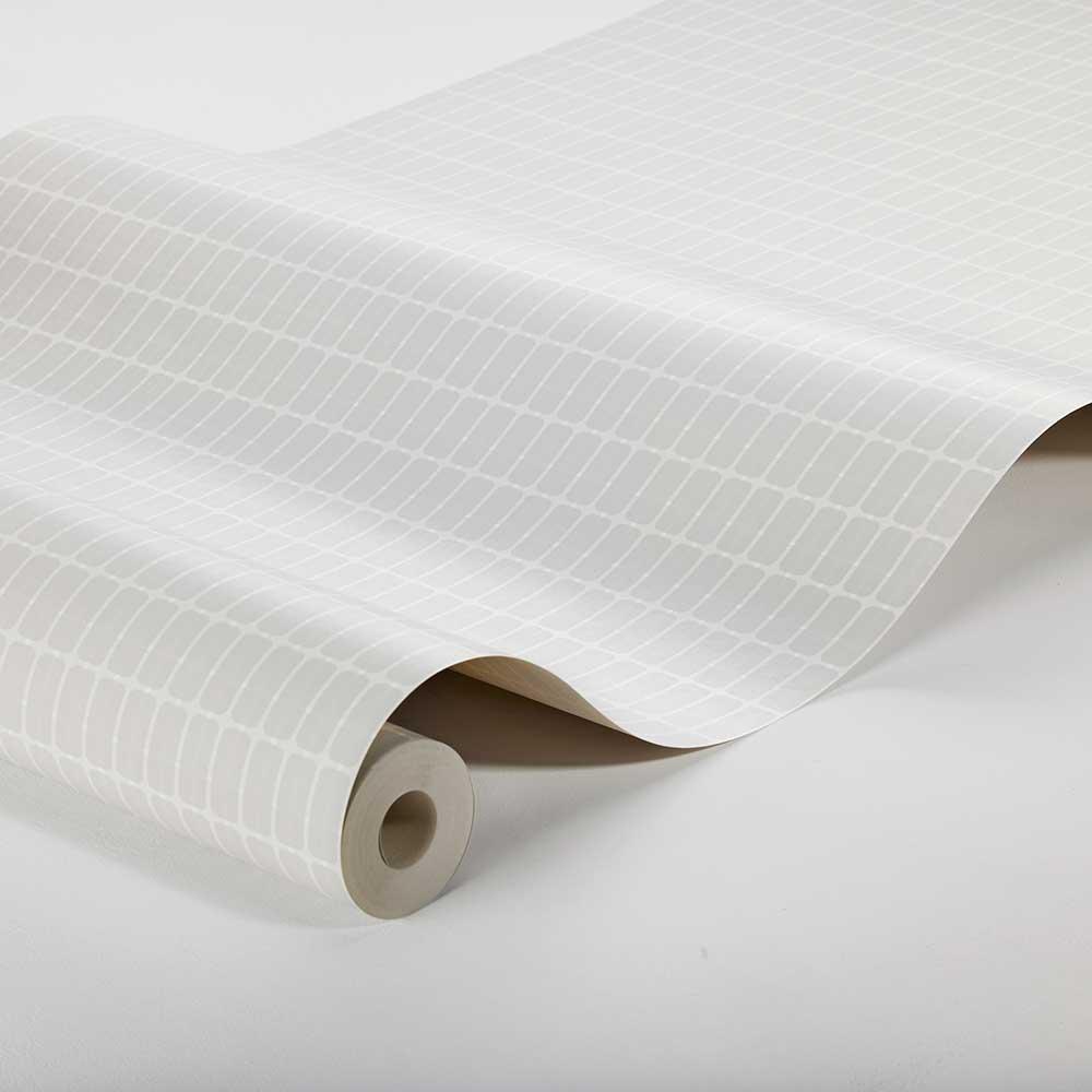 M.I.T. Wallpaper - Silver Grey - by Boråstapeter