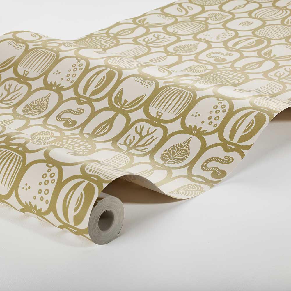 Fruktlada Wallpaper - Old Gold - by Boråstapeter