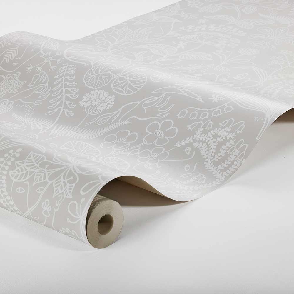 Grazia Wallpaper - Silver Grey - by Boråstapeter