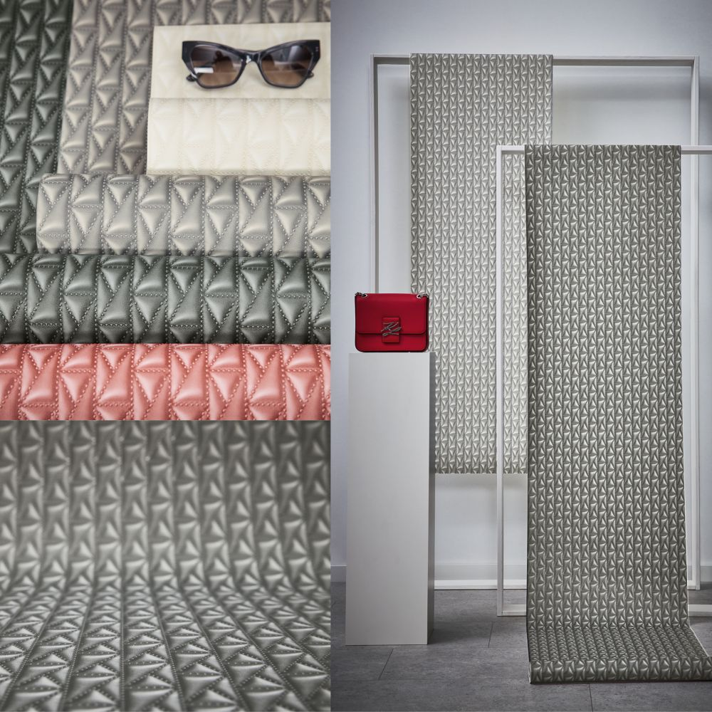 Kuilted Wallpaper - Charcoal - by Karl Lagerfeld