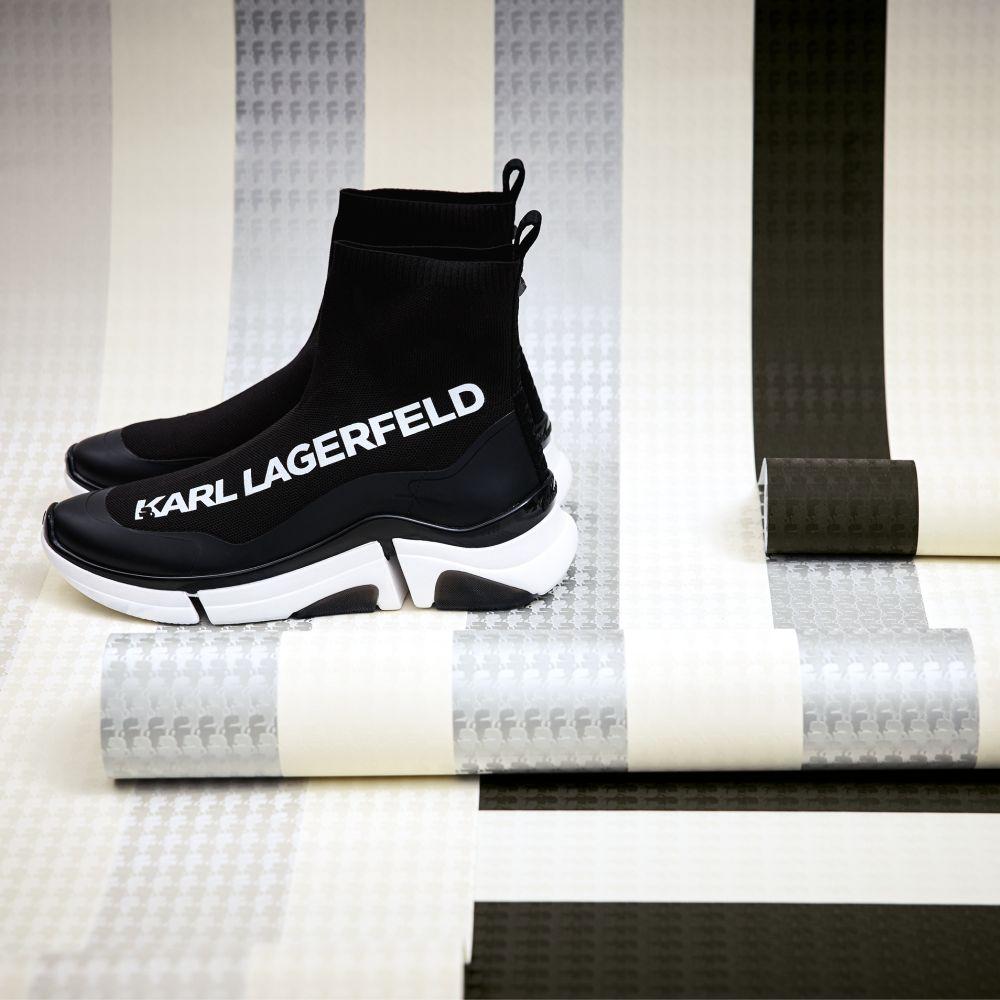 Stripes Wallpaper - Light Grey - by Karl Lagerfeld