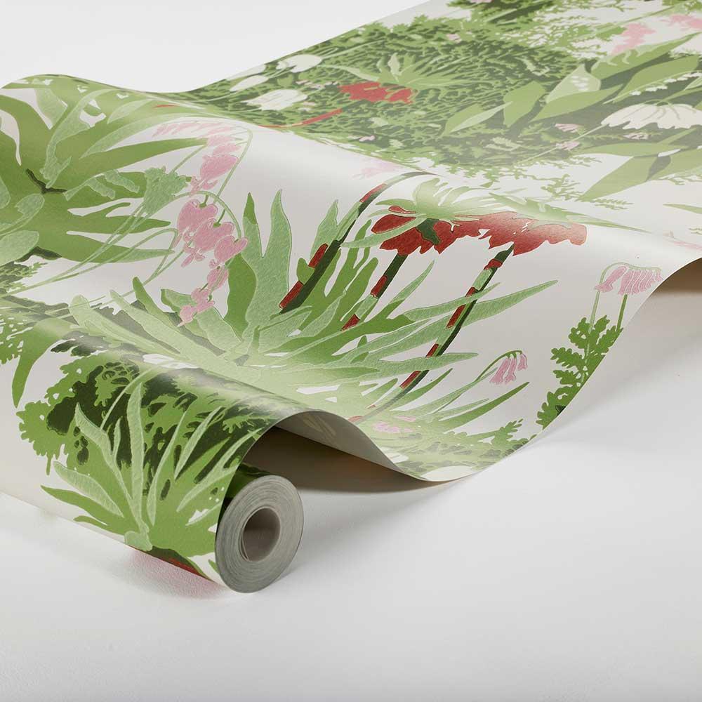 Kejsarkrona Wallpaper - Green - by Boråstapeter