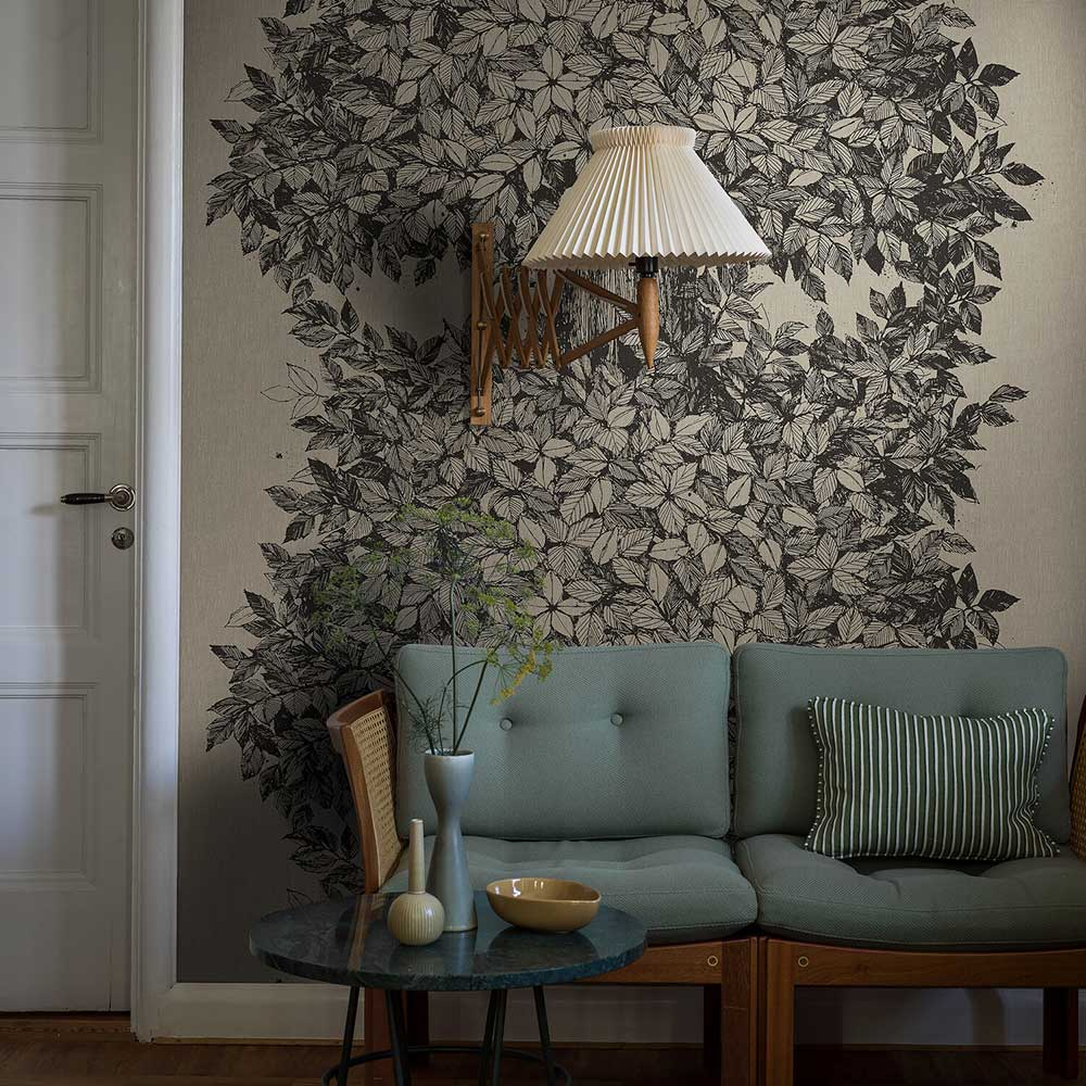 Hassel wall panel Mural - Brown - by Boråstapeter