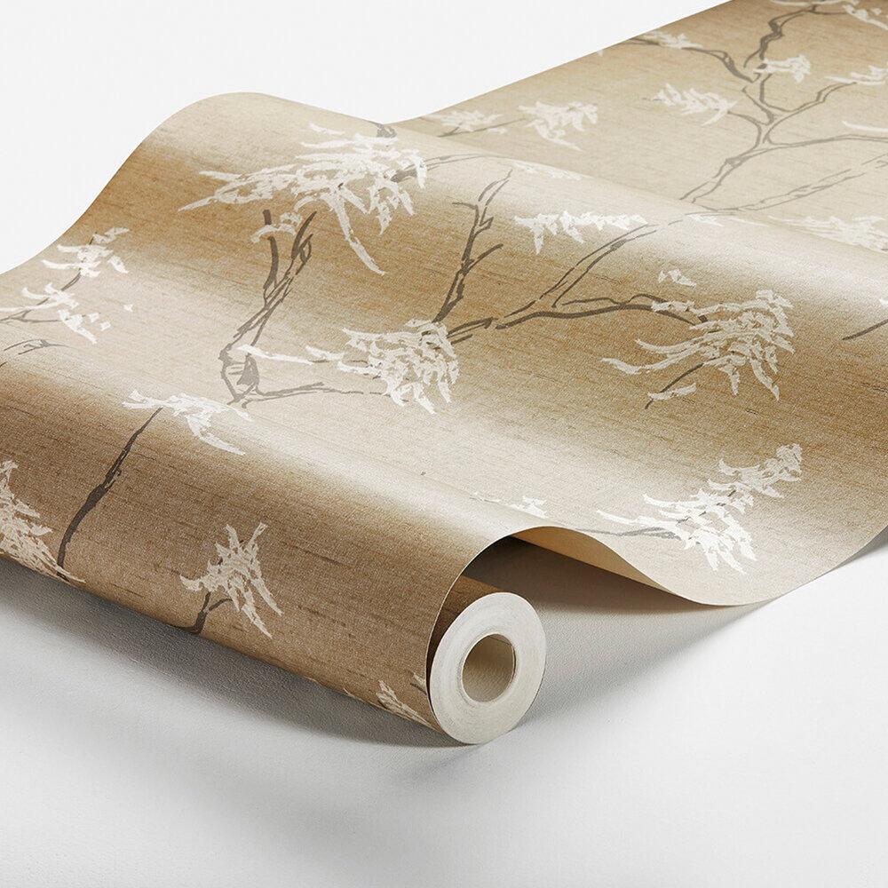 Temple Tree Wallpaper - Buttermilk Beige - by Boråstapeter