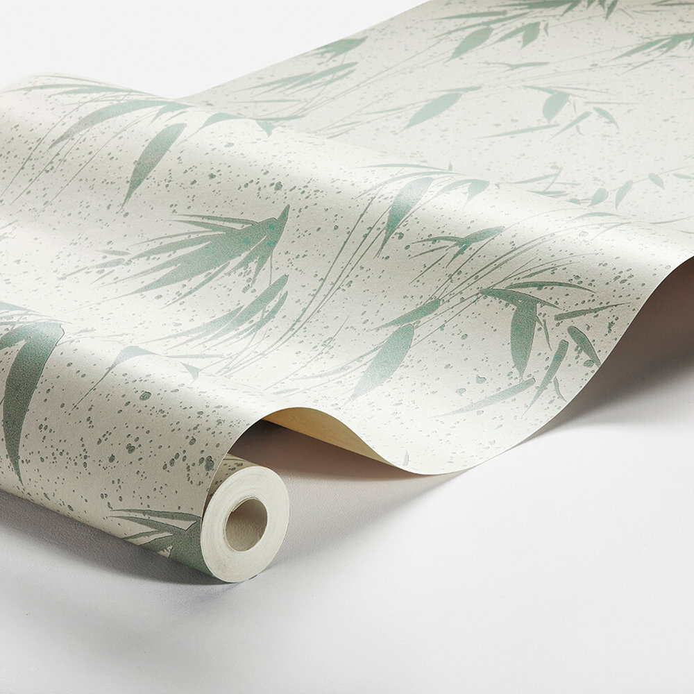 Ink Bamboo Wallpaper - Grey-Green  - by Boråstapeter