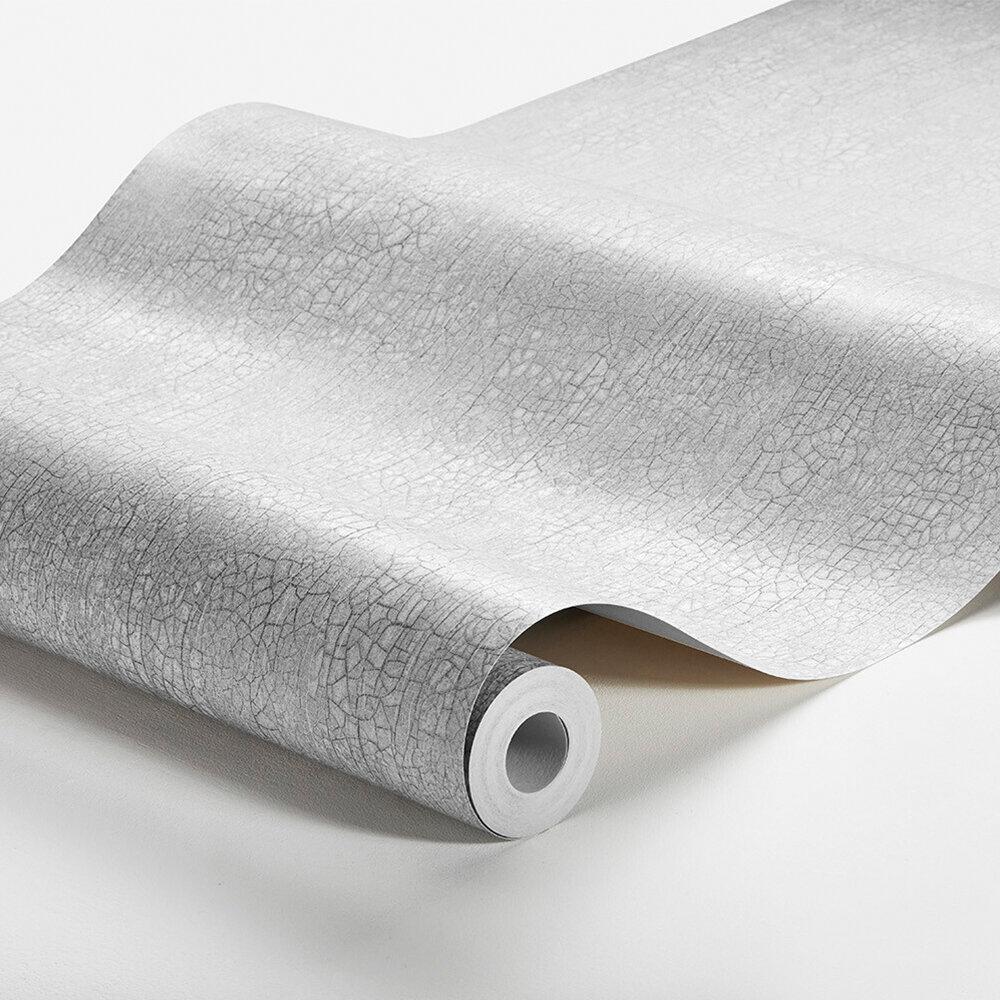 Raku Wallpaper - Light Grey - by Boråstapeter