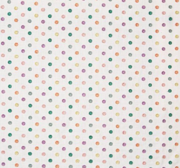 Pom Pom Fabric - Candyfloss - by Prestigious