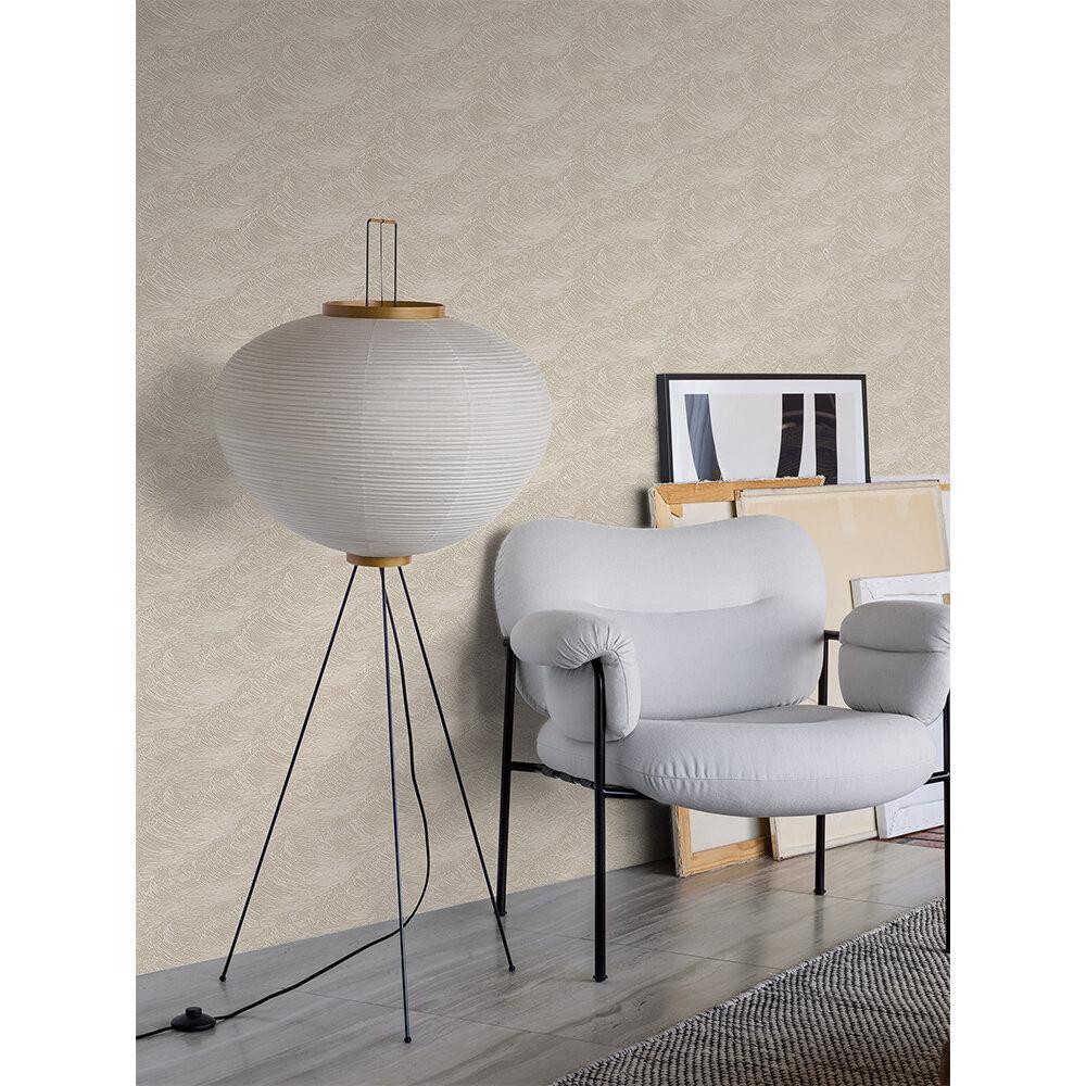 The Wave Wallpaper - Light Grey - by Boråstapeter