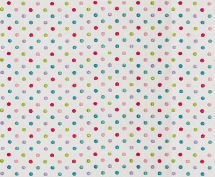 Pom Pom Fabric - Rainbow - by Prestigious