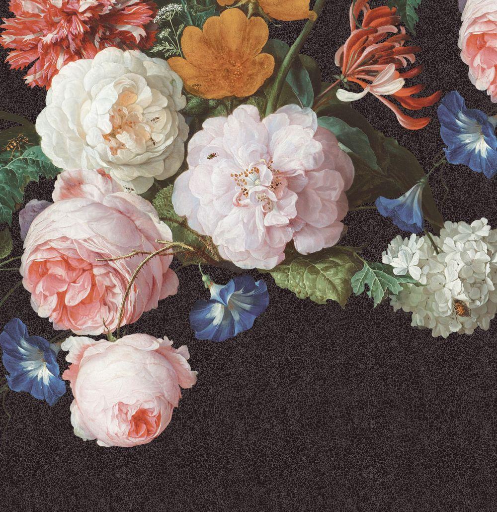 Floral Mural - Multi / Black - by Eijffinger