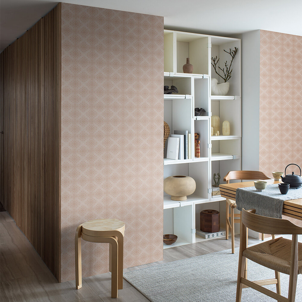 Kimono Wallpaper - Rust - by Boråstapeter