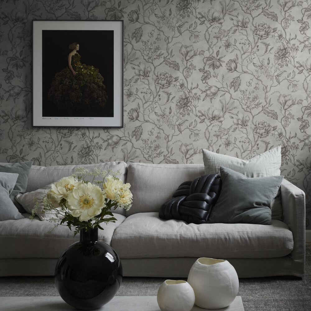 Linda Wallpaper - Sandstone - by Sandberg