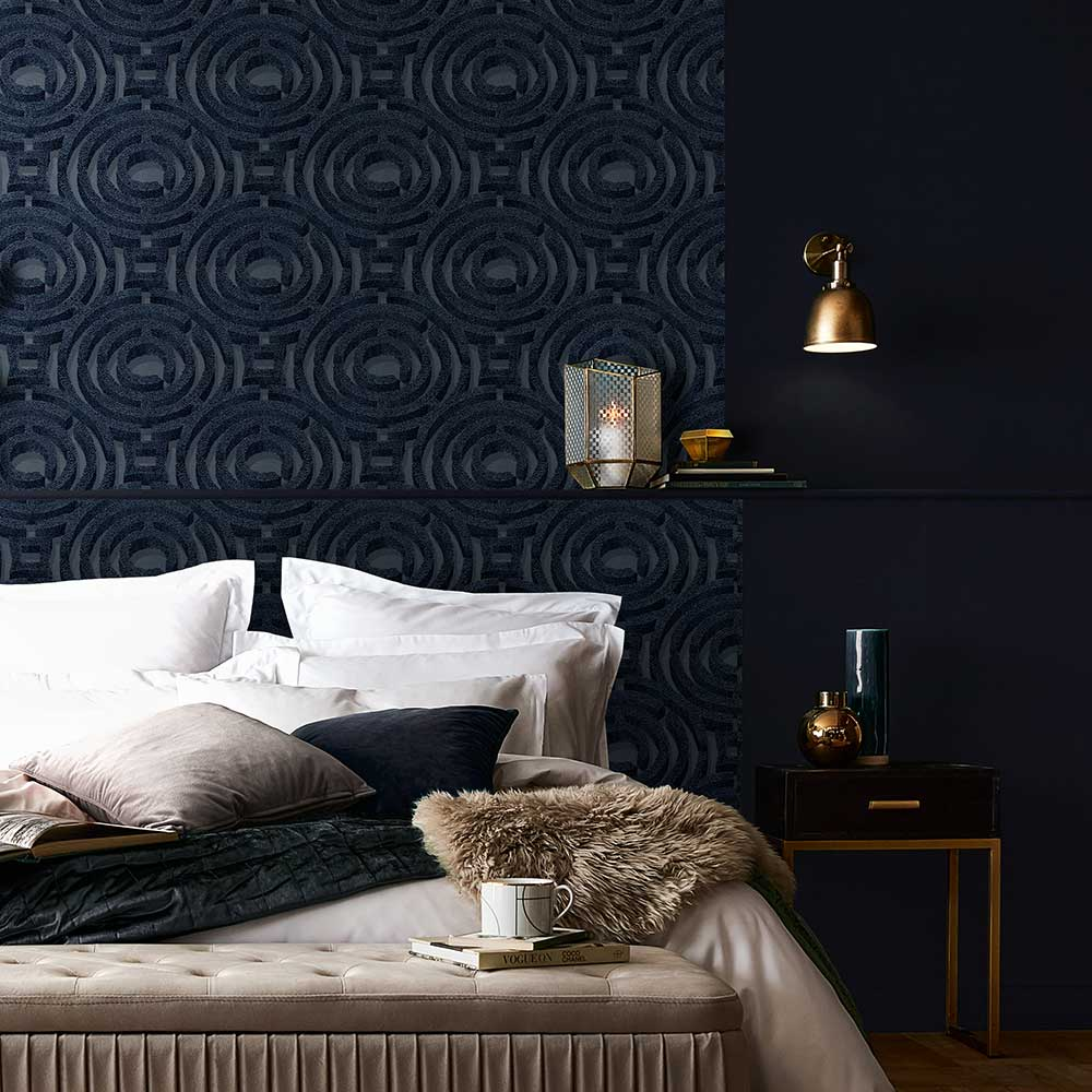 Alcazar Wallpaper - Noche - by Graham & Brown
