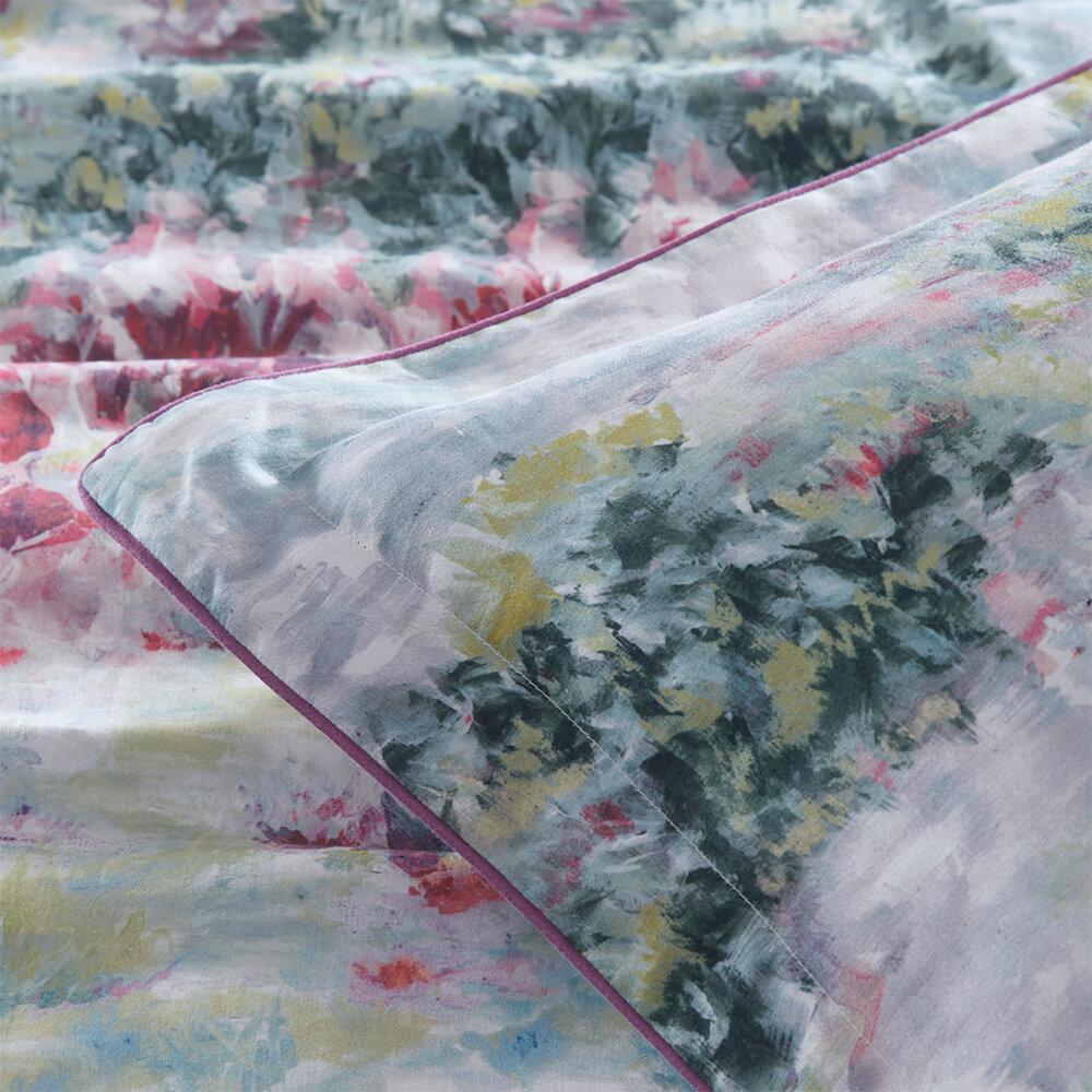 Fiore Double Duvet Set Duvet Cover - Slate/ Amethyst - by Clarke & Clarke
