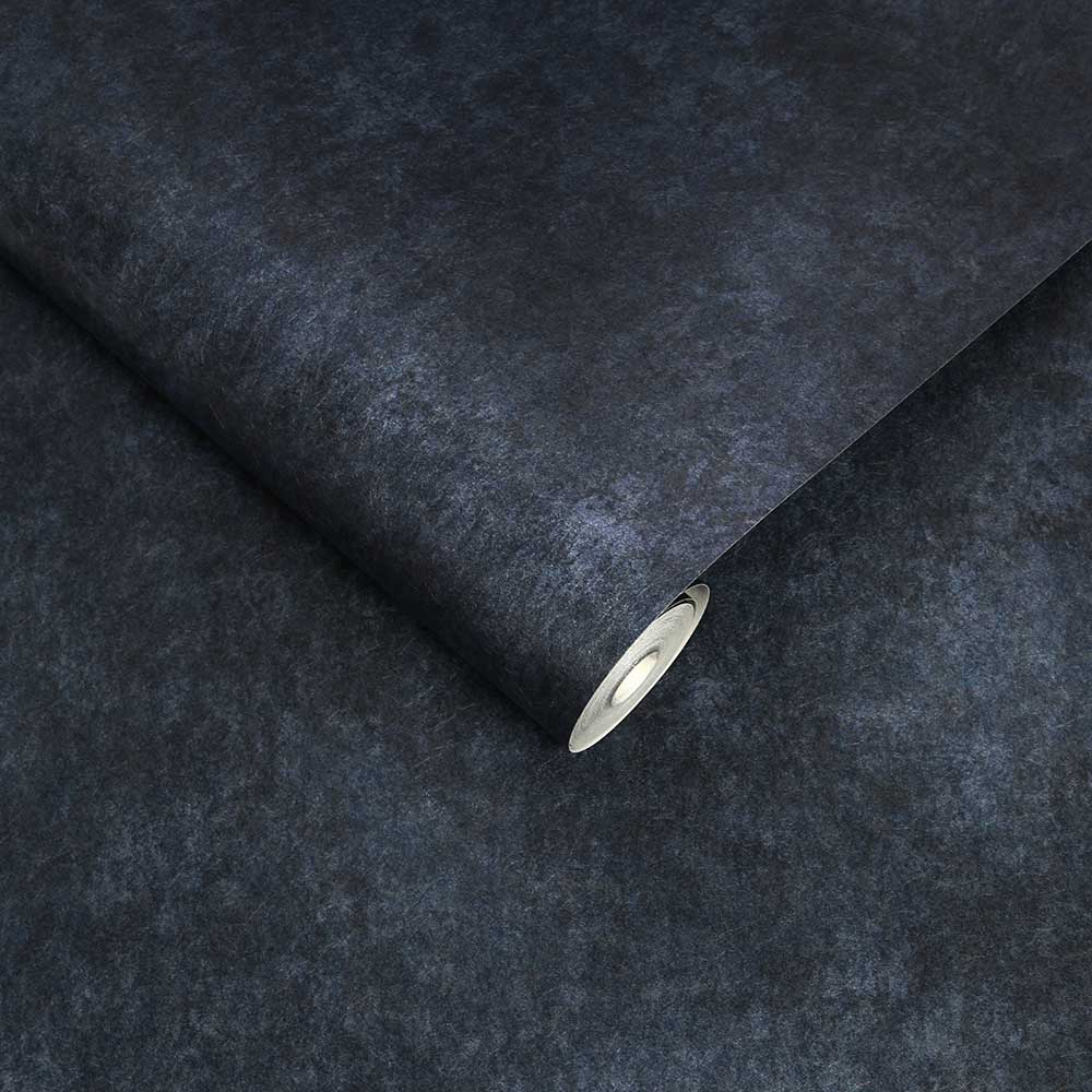 Texture Plain Wallpaper - Midnight - by Graham & Brown