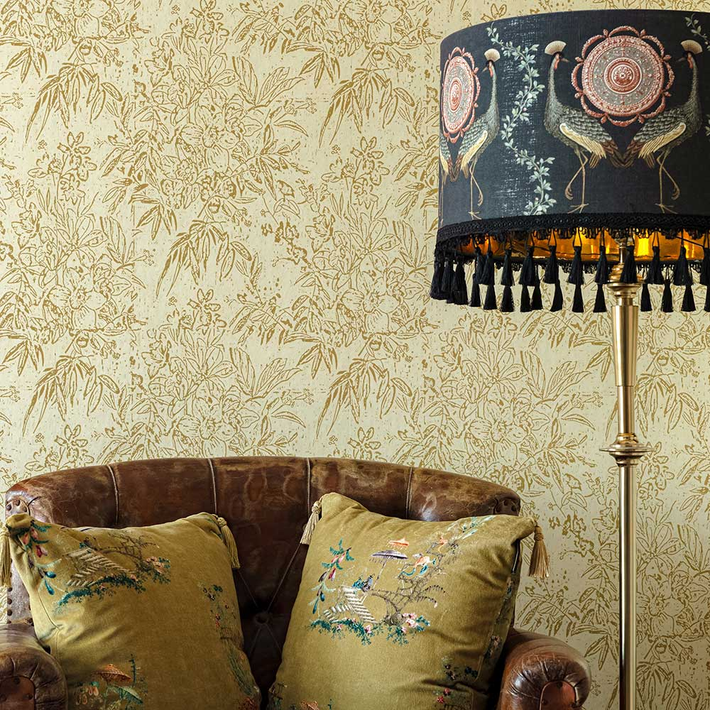 Cherry Orchard Wallpaper - Sand  - by Mind the Gap