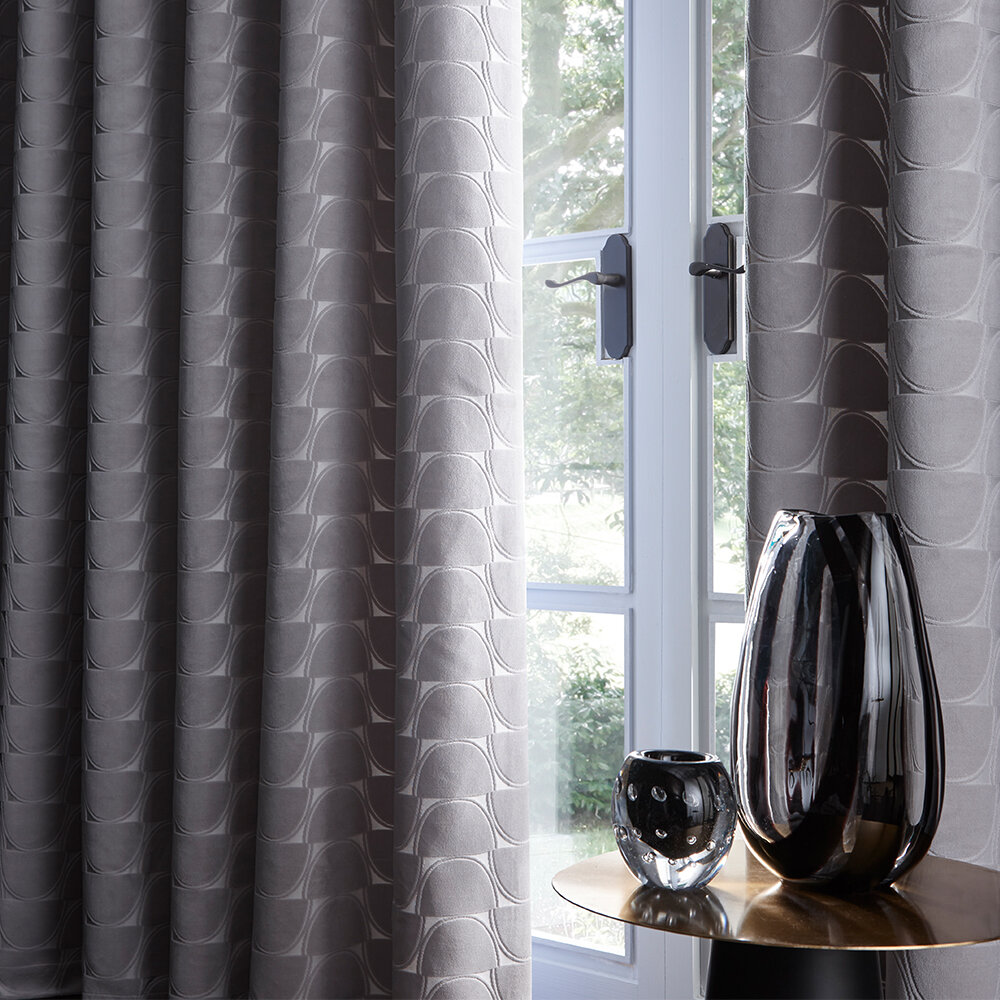 Lucca Eyelet Curtains Ready Made Curtains - Silver - by Studio G