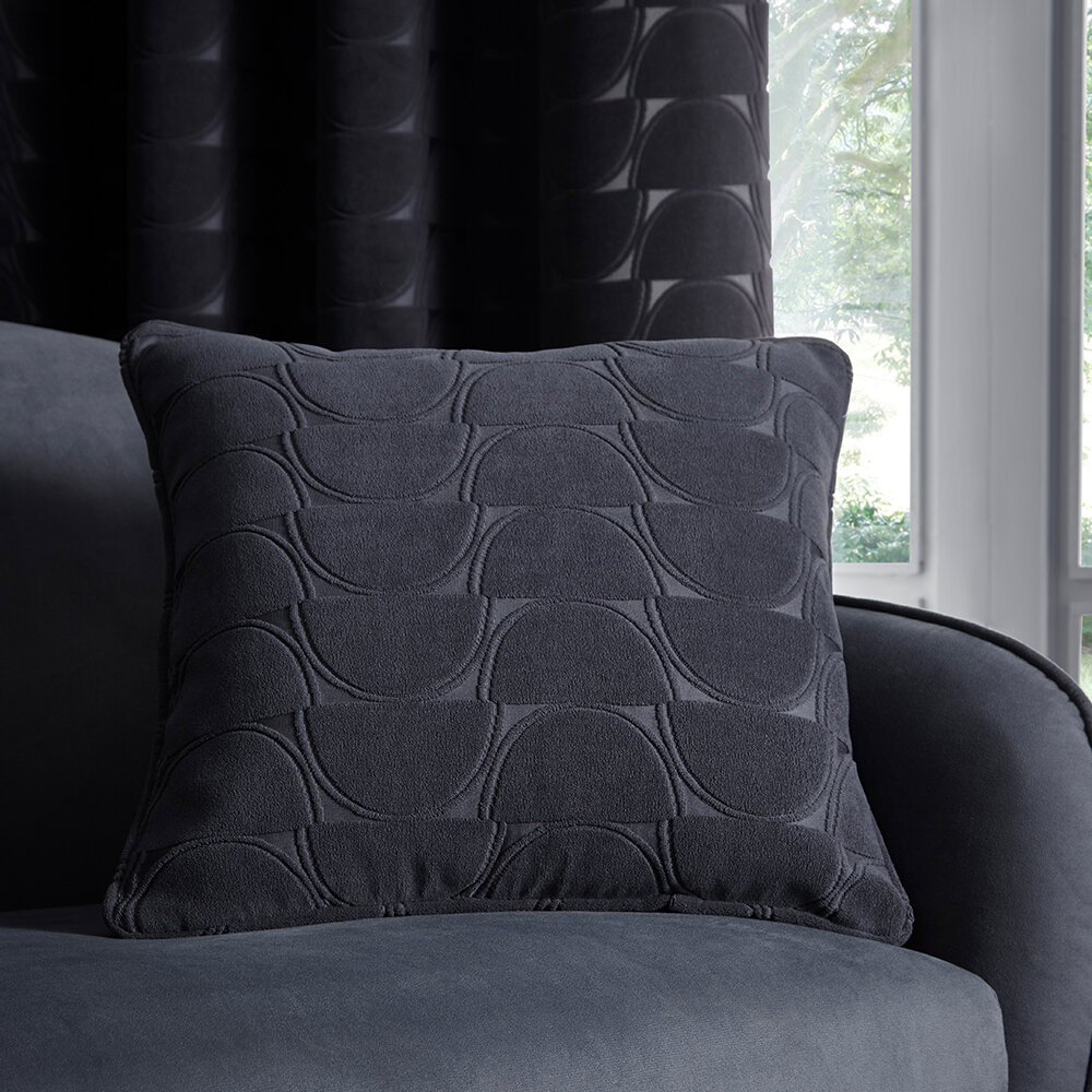 Lucca Cushion - Charcoal - by Studio G