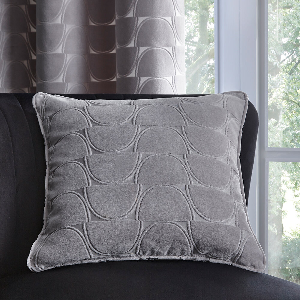 Lucca Cushion - Silver - by Studio G