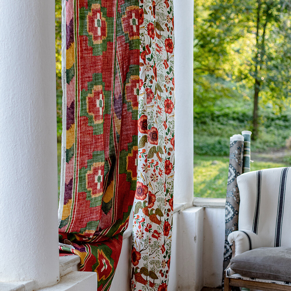 Erdely Fabric - Red and Green - by Mind the Gap