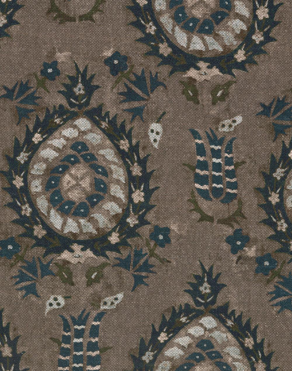 Flourish Fabric - Dapple Grey - by Mind the Gap