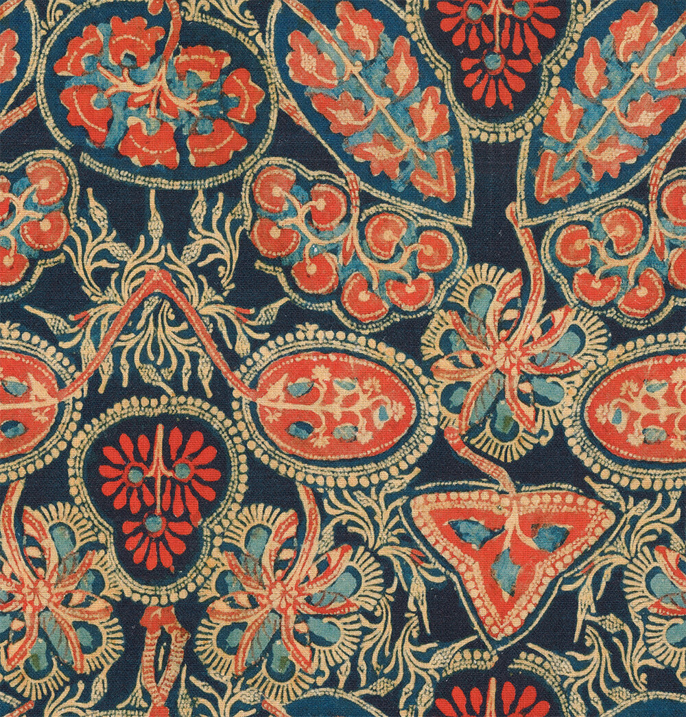Heirloom Fabric - Blue/ Red - by Mind the Gap