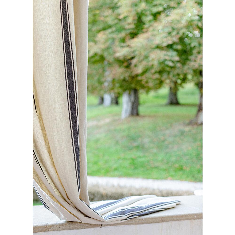 Hajdu Stripe Fabric - Black and White - by Mind the Gap