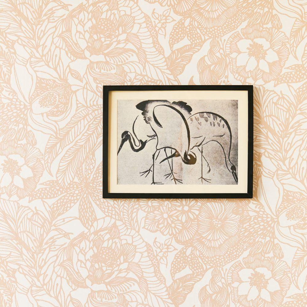 Floral Etching Wallpaper - Blush - by Eijffinger