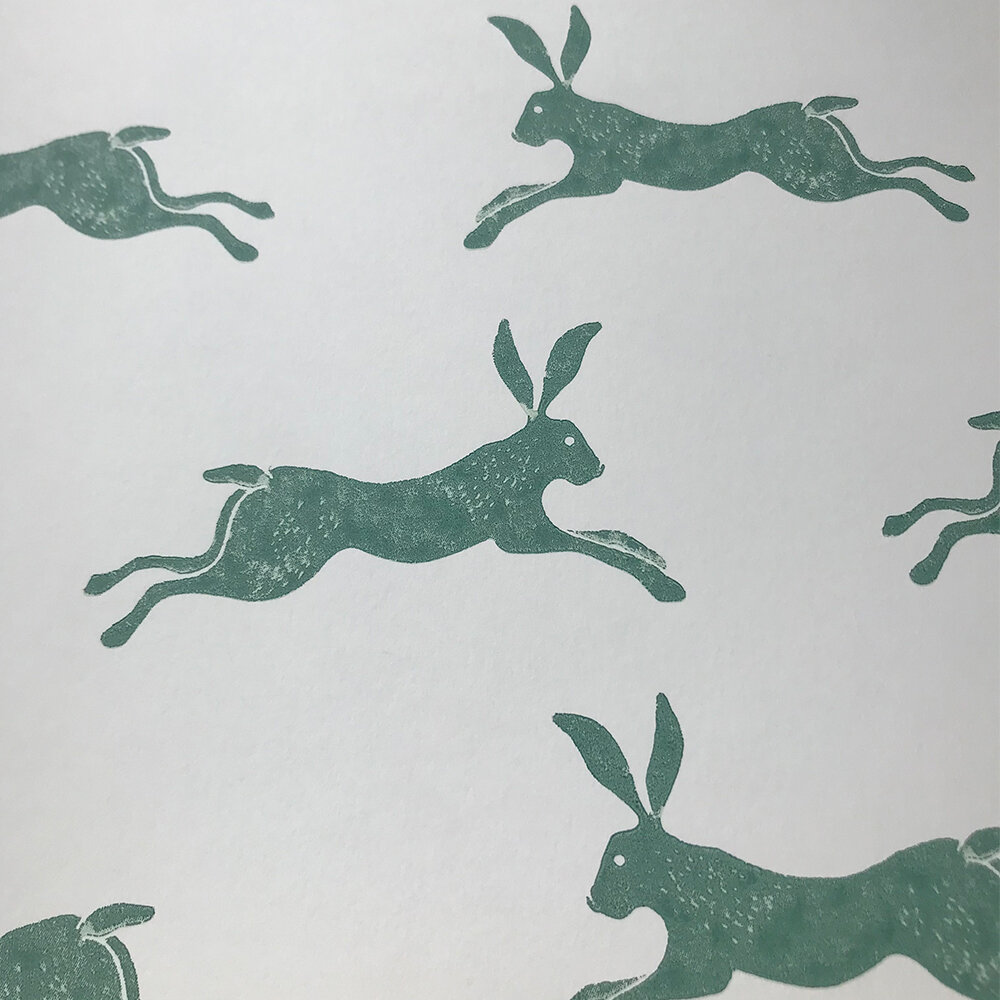 March Hare Wallpaper - Green - by Jane Churchill