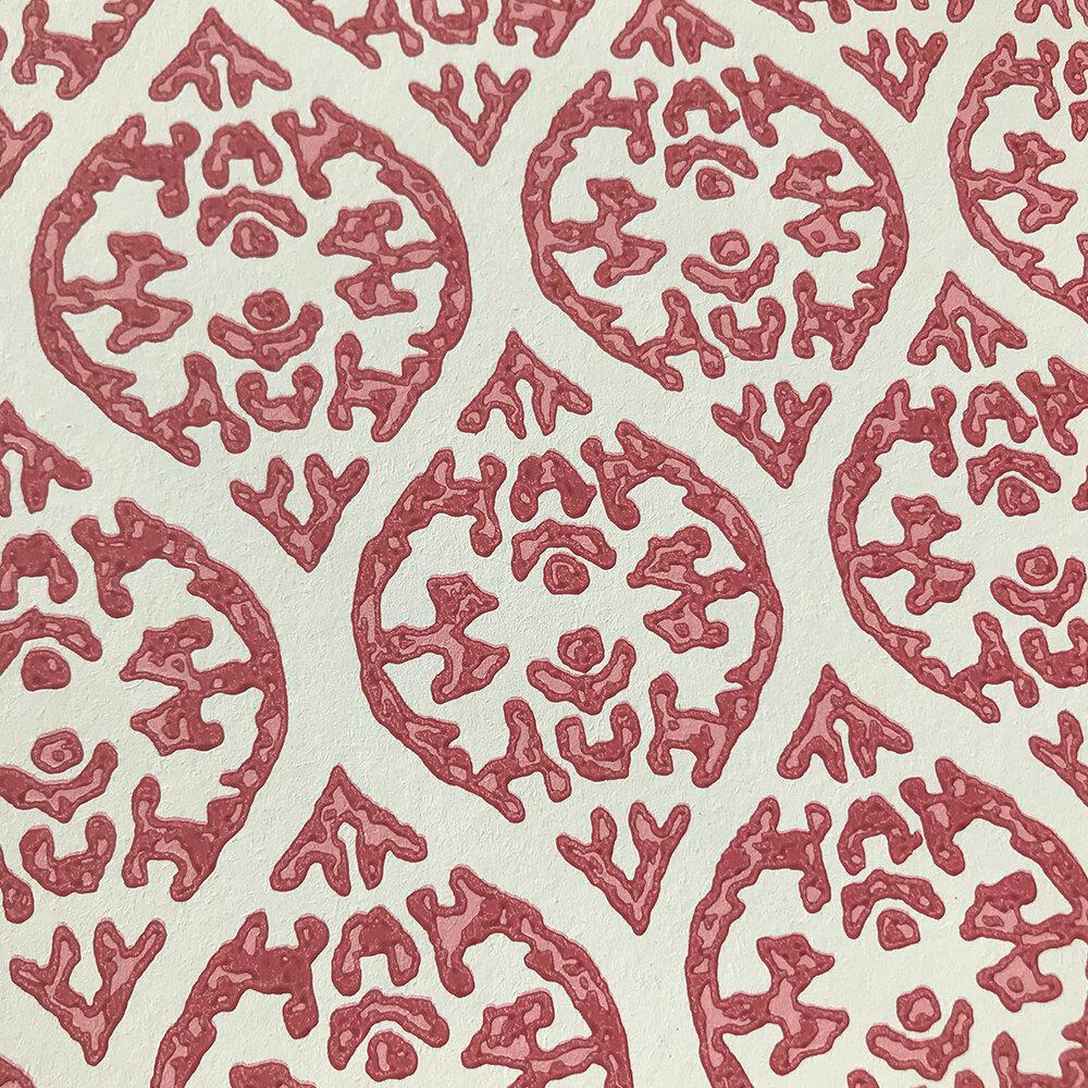 Elphin Wallpaper - Red - by Jane Churchill