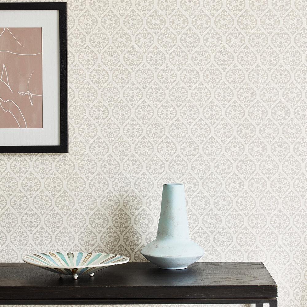 Elphin Wallpaper - Grey - by Jane Churchill