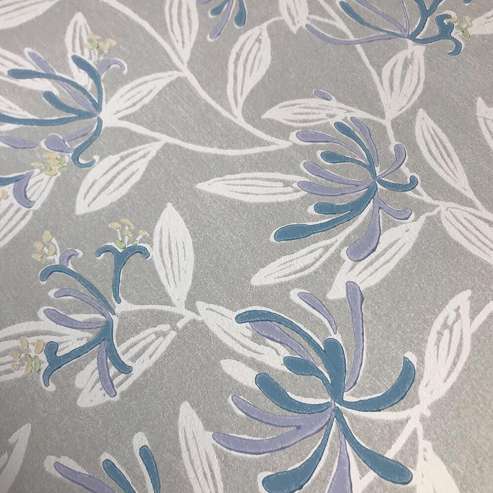 Nerissa Wallpaper - Blue - by Jane Churchill