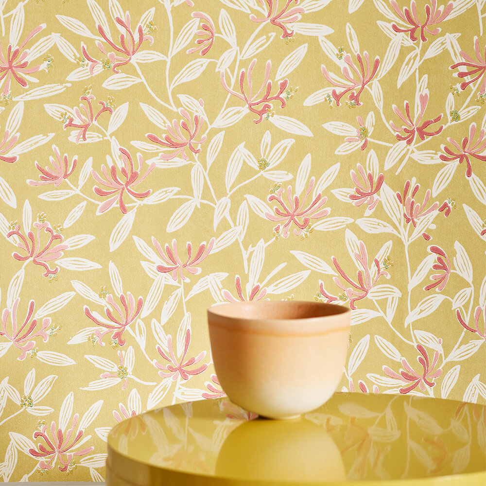 Nerissa Wallpaper - Yellow - by Jane Churchill