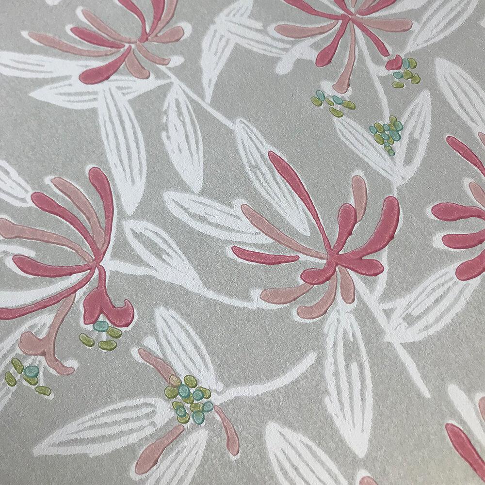 Nerissa Wallpaper - Pink/ Natural - by Jane Churchill